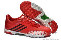 Red/White/Black adidas predator Absolado LZ TRX TF Boots Soccer Cleats