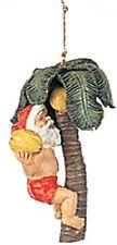 NEW Hawaiian Hawaii Christmas Ornament ~ SANTA PICKING COCONUTS # 30111