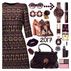 """WELCOME 2017 !!!"" by purplerose27 ❤ liked on Polyvore featuring Dolce&Gabbana, Fendi, Dries Van Noten, Linda Farrow, FOSSIL, Yves Saint Laurent, Christian Louboutin, tarte, MAC Cosmetics and Viktor & Rolf"