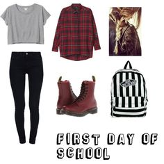 """first day of school"" by bayleapottorff on Polyvore"