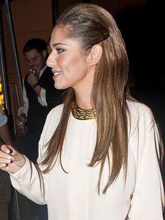 Cheryl Cole rocks the straight 'n' sleek look with slick sides.