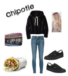 """going to Chipotle"" by marilyng341 ❤ liked on Polyvore featuring American Eagle Outfitters, Frame Denim and Vans"