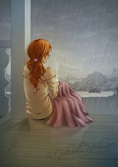Bwrw Glaw: Autumn rain - not sure if this is really anime, but what the heck! It's still pretty awesome! Cartoon Kunst, Cartoon Art, Rain Cartoon, Harry E Gina, Illustrations, Illustration Art, Rain Painting, Autumn Rain, Rain Art