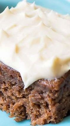 Applesauce Bars with Cream Cheese Frosting ~ These bars are the best and moistes. Applesauce Bars with Cream Cheese Frosting ~ These bars are the best and moistest bars you'll ever make, topped with Brownie Desserts, 13 Desserts, Delicious Desserts, Yummy Food, Gourmet Desserts, Apple Desserts, Homemade Desserts, Homemade Breads, Homemade Ice