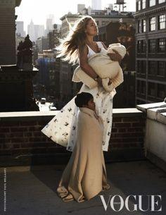 Een eerder naar buiten gebrachte foto uit het nieuwste nummer van Vogue