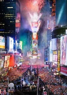 Times Square on New Year's Eve... 2012. Incredible time with my friends!