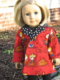 Falling Peanuts Coat for American Girl dolls by momawake, $10.00