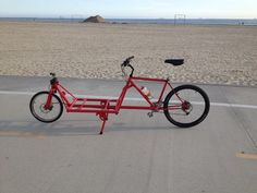 Picture of 2 Wheeled Cargo Bike from old mountain bike frame