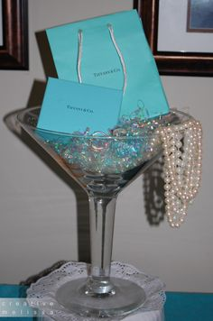 Tiffany Wedding Shower Ideas | Table Centerpiece for Tiffany wedding Shower Brunch - Creative Melissa ...