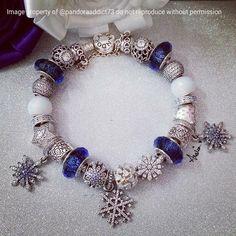Blue Pandora Christmas bracelet