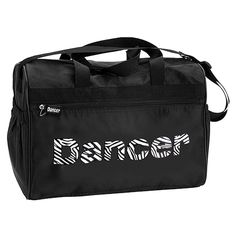 Danshuz Womens Girls Black Zebra Zippered Pockets Dancer Bag *** Read more reviews of the product by visiting the link on the image. (This is an Amazon Affiliate link and I receive a commission for the sales)