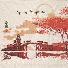 Pays : Serviette Asie et paysage 33 cm X 33 cm 3 plis http://fournitures-loisirs.les-creatifs.com/serviettes.php?refer=Asie-et-paysage pour la décoration de table ou autres objets à décorer.