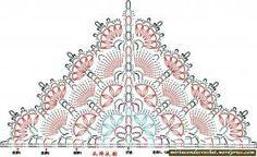 Resultado de imagen de esquema del patrón de un chal a punto salomon de ganchillo