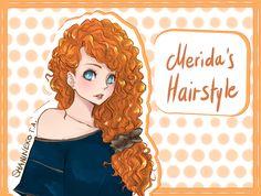 Merida's Hairstyle by ShaniNeko on deviantART