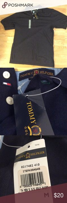 NWT Vintage Tommy Hilfiger Polo Vintage 90's Tommy Hilfiger Polo NWT, very rare to find one with tags Tagged Size Medium but fits like a Size XL A nice polo for any occasion Great Christmas gift Tap in Tommy Hilfiger Shirts Polos
