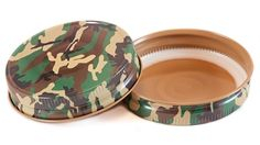 Camo Mason Jar Lid (can be used for pressure canning!) or for #duckcommander or #DuckDynasty themed favors!