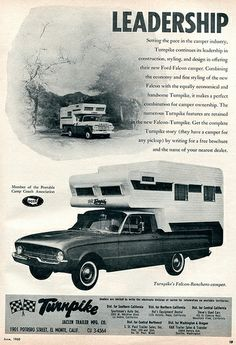 1960 Turnpike Camper Shell Advertisement Motor Life June 1960 | Flickr - Photo Sharing!