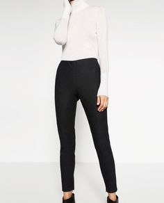 Image 1 of FAUX LEATHER LEGGINGS from Zara