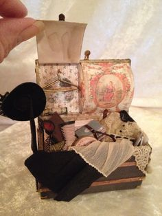 Victorian Trunk by BobbieJMinis on Etsy https://www.etsy.com/listing/209130310/victorian-trunk