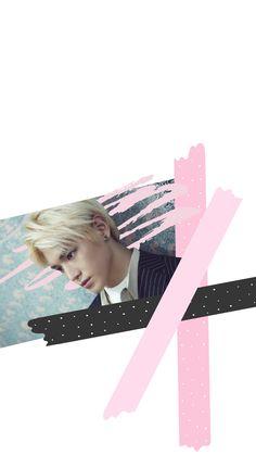 NCT Taeyong pastel lockscreen wallpaper kpop