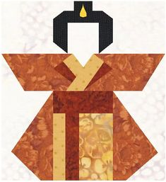 paper pieced quilt patterns | Geisha Doll paper pieced pattern and measurements for quilt in pdf ...
