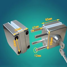 89.85$  Watch now - http://ali5xq.worldwells.pw/go.php?t=32648558332 - Thick reinforced Glass Door Lock,all sus304 stainless steel,No need to open holes,Frameless glass door CP408 89.85$