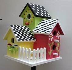 handpainted #birdhouses | handpainted birdhouse | Birds, Birdhouses, and Butterflys