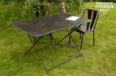 Table de jardin Compiègne,Tables industriellee de jardin   luminaire