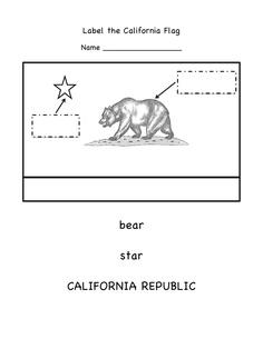 Free worksheet labeling the california symbols kinder learning free worksheet for labeling the parts of the california flag kinder learning garden blog altavistaventures Image collections
