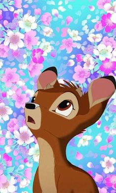 Young bambi in flowers iphone hintergrund disney, fondo disney, iphone background disney, disney Disney Kunst, Arte Disney, Disney Magic, Disney Art, Disney Movies, Disney Ideas, Bambi Disney, Disney And Dreamworks, Disney Pixar
