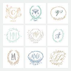Holly Hollon wedding logos.