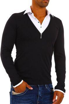 Bluza cu maneca lunga Redbridge, prezenta in colectia Cipo & Baxx a magazinului nostru de haine online. Bluza este slim fit, din bumbac si elastan, culoarea neagra, model R-1520. Bluza prezinta guler ca de camasa cu nasturi.