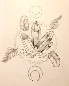 Crystal Tattoo Sketch, S. Lakin.