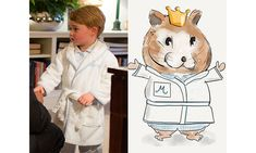 British illustrator brings the Cambridge family hamster Marvin to life complete with Kate's wardrobe