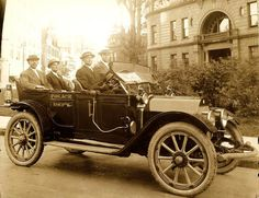 Old Detroit Police Cars | Just A Car Guy: Cool old police vehicles and motorcycles