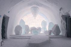 The world's first ice hotel, the ICEHOTEL in Jukkasjärvi, Sweden.
