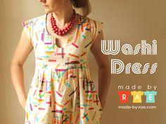 WashiDressCard by madebyrae, via Flickr  http://www.made-by-rae.com/2012/05/washi-dress/
