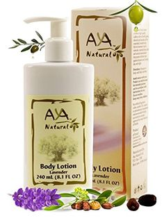 Lavender Body Lotion for Dry Skin  Natural Vegan Olive Oil Itchy Cracked Skin Moisturizing Cream 81 oz  Olive Jojoba Avocado  Almond Oils Blend * Check out this great image  : All Natural Skin Care