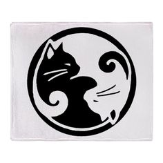 Yin Yang Cats Throw Blanket on CafePress.com