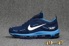 brand new d7cbc 1ffd9 Cheap Off White X Nike Air Max 97.2 KPU Mens shoes  Dark Blue  White
