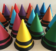Art Themed Party, Art Party, Party Themes, Party Fun, Party Hats, Party Ideas, Crayon Birthday Parties, Birthday Party Treats, Art Birthday