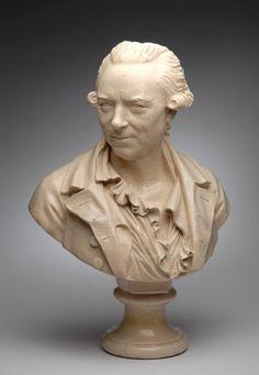 Augustin Pajou [French, 1730-1809] | Bust of Francois Andre-Danican Philidor [1726-1795] - c. 1783. Terre de Lorraine.