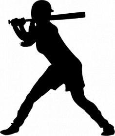 buy 2 get 1 free girls softball silhouette machine embroidery design rh pinterest com softball player clipart black and white softball player clipart black and white