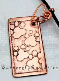OOAK Etched Copper Pawprints Choker  Supports Spokane Humane Society by ButterflySundries, $35.00    #cat #dog #pet #pawprint #heart #love #FurBabies #jewelry #copper #etch