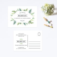 Greengrass Save the Date Postkarte #savethedate #wedding stationery #hochzeit #hochzeitspapeterie #savethedatekarten #bonjourpaper