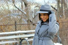 Monochromatic look: gray #hat #coat #boots #fashion #womensfashion