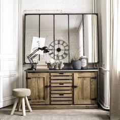 Miroir indus en métal 180x124 Cargo   Maisons du Monde POUR LE MIROIR PAS LE MEUBLE
