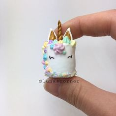 Heres my #unicorncake from last sundays #wip video. I've been seeing alot of unicorn things lately here on instagram so this is not my original idea.☺️ Its my first cake charm in a while. Do you wanna see more cakes? #polymerclay#clay#fimo#hobby#handmade#håndlaget#madebyme#diy#love#norway#charm#today#friday#unicorn#photooftheday#potd#cake#smile#july#craft#create#diy#keychain#gold#pastel#sweets#dessert#unicorn#mystaedtler