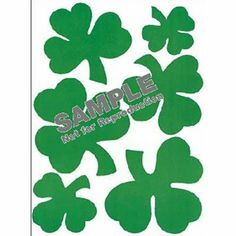 """Eureka Eu-836540 Window Cling Shamrocks by Eureka. $3.08. Vibrant colors. No residue. 12"""" x 17"""". Ages 3+. Static cling vinyl. Reusable. Assorted designs. EU-836540 They're not just for windows! Static cling vinyl will stick to any laminated or glossy surface, including dry-erase boards, lockers, pencil holders, metal file cabinets, etc. Use these bright and colorful clings throughout the classroom."""