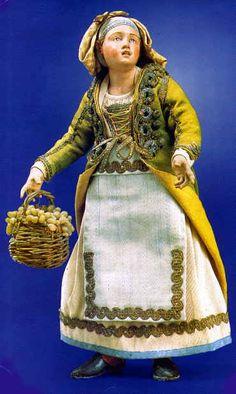 Statuina del presepe napoletano del 1700 Nel Museo di San Martino Napoli